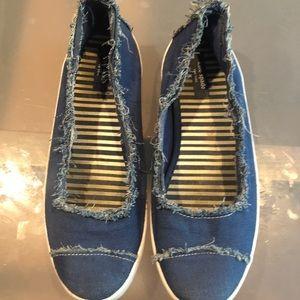 Kate Spade Slip-On Denim Sneakers -Size 8